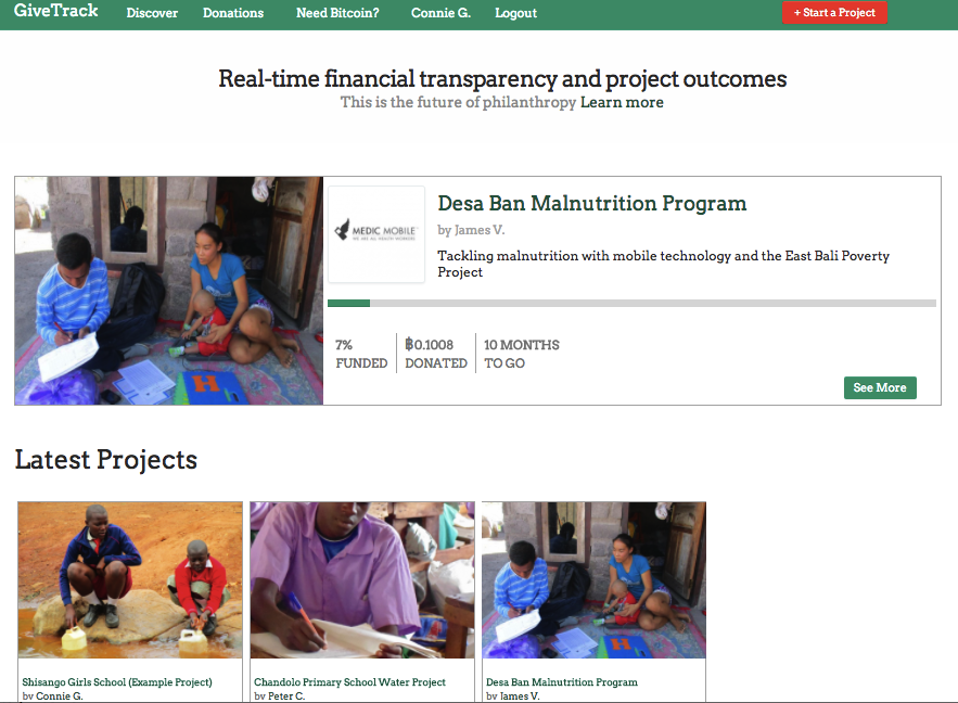 GiveTrack is LIVE with Two Pilot Projects!